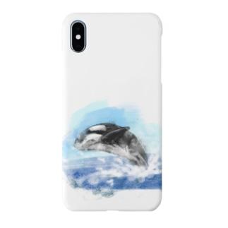 いきものイラスト(シャチ) Smartphone cases