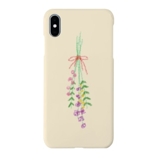 flower イエロー Smartphone cases