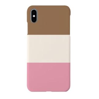 三色のアイスクリーム Smartphone cases