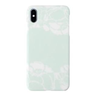flower white  green plant botanical ボタニカル 花 グリーン ホワイト 淡い 緑 Smartphone cases