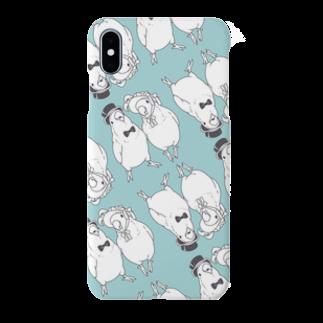インコグッズ屋のコザクラ夫妻モノクロVer. Smartphone cases