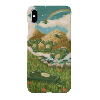 温泉とカエルたち Smartphone cases