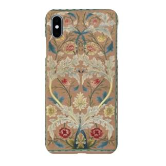 ウィリアム・モリス Panel of floral embroidery Smartphone cases