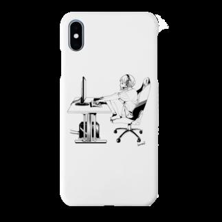 kannav2のグッズ屋さんのゲーム中のカンナブちゃん Smartphone cases