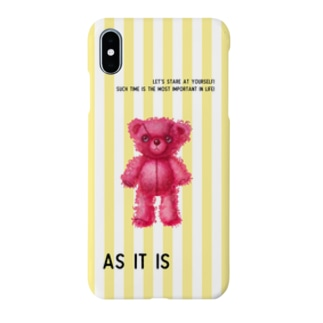 【As it is】(桃くま) iPhone X/XS/XS Max/XR用 Smartphone cases
