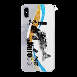 くまさん工房のチヌ魚拓スマホケース002 Smartphone cases