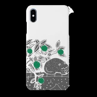 uwotomoの猫と柚子 背景透過 Smartphone cases