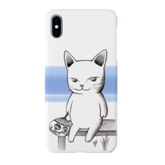 さびしい目をした猫 【夏2】 Smartphone cases