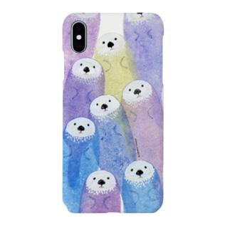 動物イラストんのsea otter[iPhone animals cover] Smartphone cases