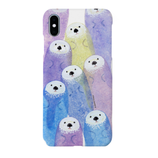 スポンジ絵描き:おざきしょうたのsea otter[iPhone animals cover] Smartphone cases