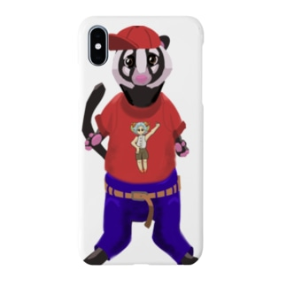 ハクビくんキャップバージョン Smartphone cases