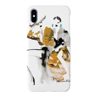 AYUMI KUBOTAのNice girls(yellow) Smartphone cases