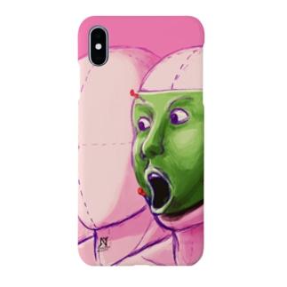 技法勇者の店/Technigic-Braves' Shop in SUZURIのびっくりフェイス Smartphone Case