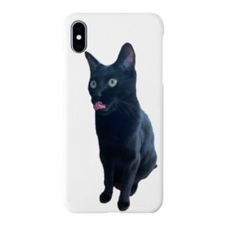 うちの猫:名前はボス、呼び方はけっけ タオルハンカチ Smartphone cases