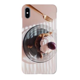 baked,プルーンとくるみのカップケーキ。 Smartphone cases