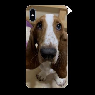 おいら犬組! バセット倶楽部のバセットハウンド アホ顔ちゃん Smartphone cases