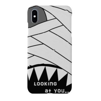 ハロウィン マミー looking at you  Smartphone cases
