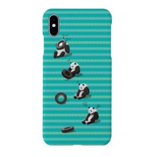 タイヤ大好きパンダ(Green+dot) Smartphone cases