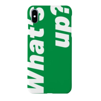 """""""What's up?"""" Green x White Smartphone cases"""