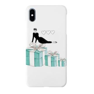 美女とリボンボックス Smartphone cases