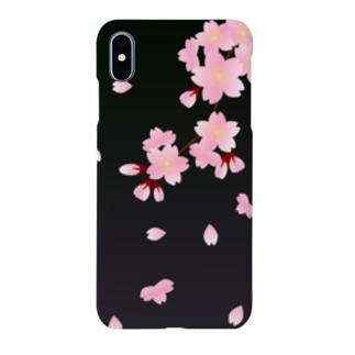 夜桜 Cherry blossoms at midnight Smartphone cases