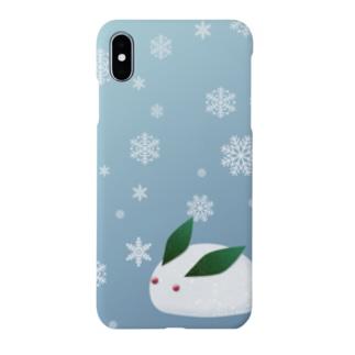 雪うさぎ snow rabbit Smartphone cases