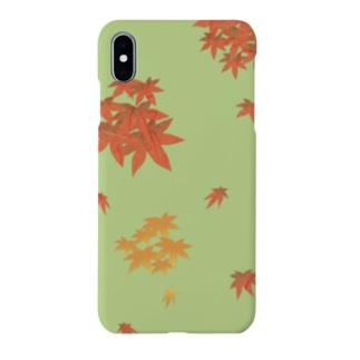 紅葉狩り enjoy the beauty of autumn leaves Smartphone cases