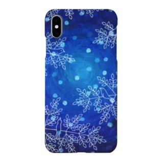 スマートフォンケース(冬の森) Smartphone cases