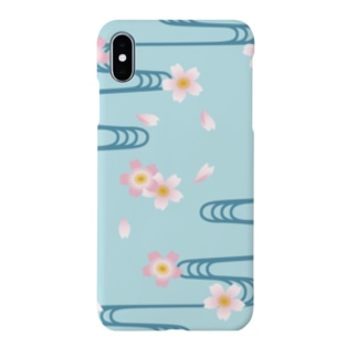 桜-流水文様 Sakura and Running water Smartphone cases