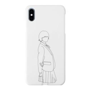 女の子 制服 ワンポイント Smartphone cases