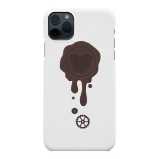 チョコ好きさんへ♪【ビターチョコ】healing-honey蝋封風ロゴモチーフ Smartphone cases