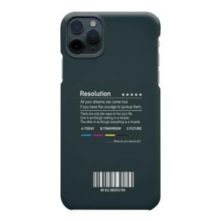 渋くもう一度将来の夢を見返す iPhoneケース Smartphone cases