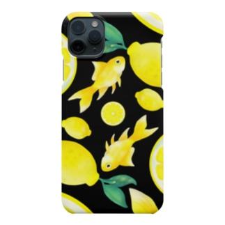 檸檬と金魚 Smartphone cases