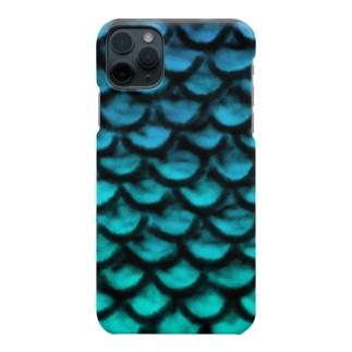 鱗_青 Smartphone cases
