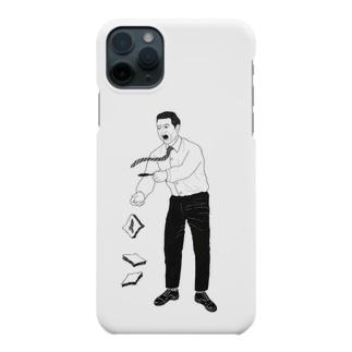 怒るおじさん落ちる食パン Smartphone cases