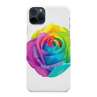 Rainbow rose(Single) Smartphone cases
