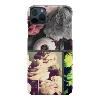 大人可愛いシックな花柄 Smartphone cases