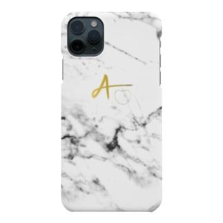 AppleGamingのwhite marble case Smartphone Case
