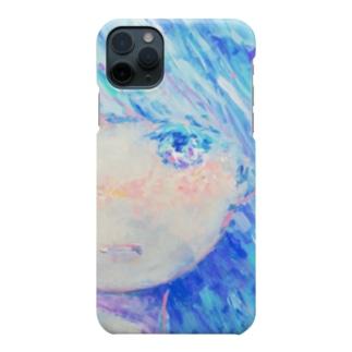 青くきらめく Smartphone cases