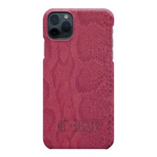 毒蛇携帯(赤) Smartphone cases