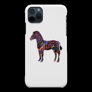 chicodeza by suzuriのカラフルサイケのシマウマ Smartphone cases
