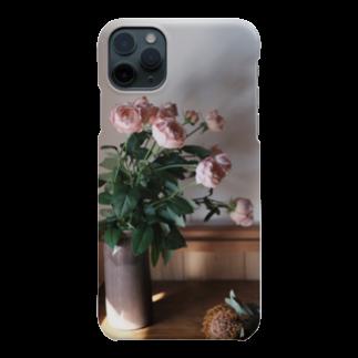 STEMのうすピンクのバラ Smartphone cases