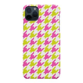 千鳥格子 Smartphone cases