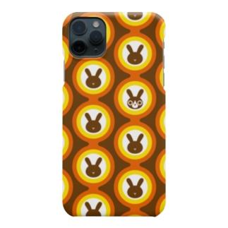 レトロポップ*うさぎ-01 Smartphone cases