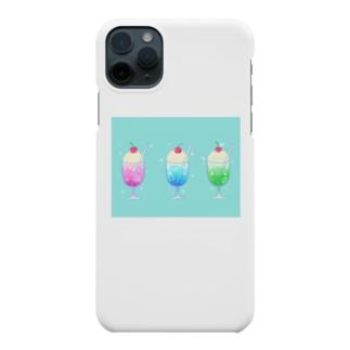 シュワっとさわやかクリームソーダ Smartphone cases