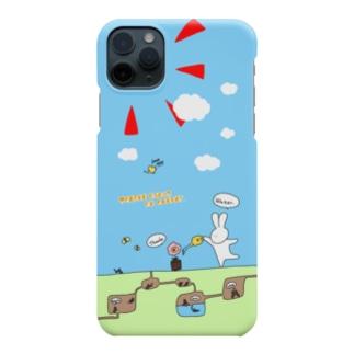 (iPhone11レッド向け)ある日のとぼけうさぎ Smartphone cases