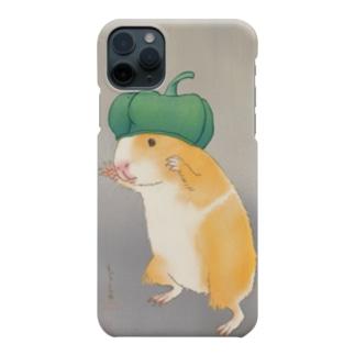 ピーマンお帽子のモルモット Smartphone cases
