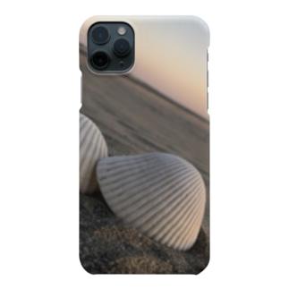 貝と海の夕焼け Smartphone cases