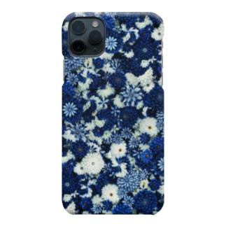 つまみ細工紋様 瑠璃×月白 Smartphone cases
