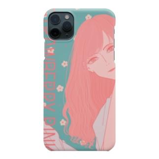 ストロベリーピンク Smartphone cases